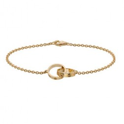 cartier love plated real 18k yellow gold bracelet replica