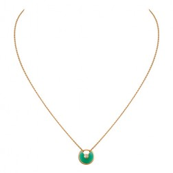 amulette de cartier necklace yellow gold chrysoprase diamond replica