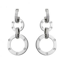 cartier love white gold diamond earring N8049000 replica