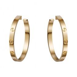 cartier love yellow gold screw design earring replica