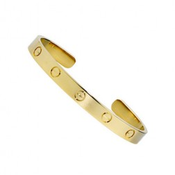 cartier cuff bracelet plated real 18k yellow gold B6032516 replica