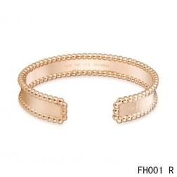 Van Cleef & Arpels Open Cuff Bracelet,Pink Gold