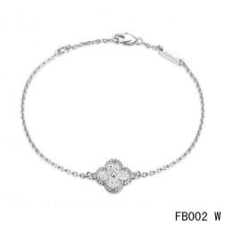 Van Cleef and Arpels Sweet Alhambra Bracelet White Gold