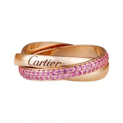 trinity de Cartier pink gold ring sapphire small models B4093100 replica