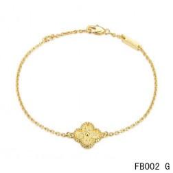 Van Cleef and Arpels Sweet Alhambra Bracelet Yellow Gold