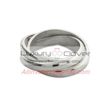 Designer Inspired Sterling Silver Triple Roll Russian Wedding Ring