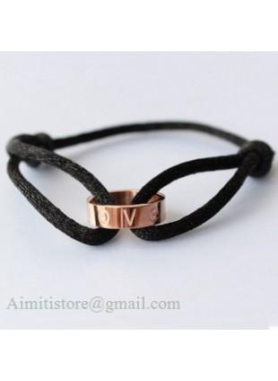 Cartier LOVE Cord Bracelet in 18k Pink Gold