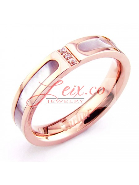 cartier wedding band ring in 18k pink gold with mother of pearldiamonds - Cartier Wedding Ring