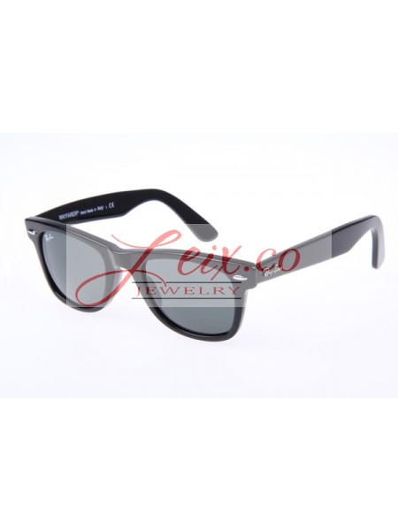 Replica Ray Ban Wayfarer RB2140 50-22 Sunglasses In Black Grey Lens 901A 982d3877af