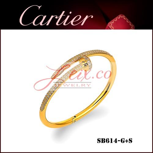 b9c131ea43f Cartier Juste Un Clou Bracelet In Yellow Gold Set With Diamonds