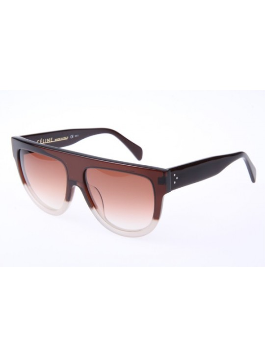 6eaf79edfbc1 Celine CL41026S Sunglasses In Brown Transparent ...