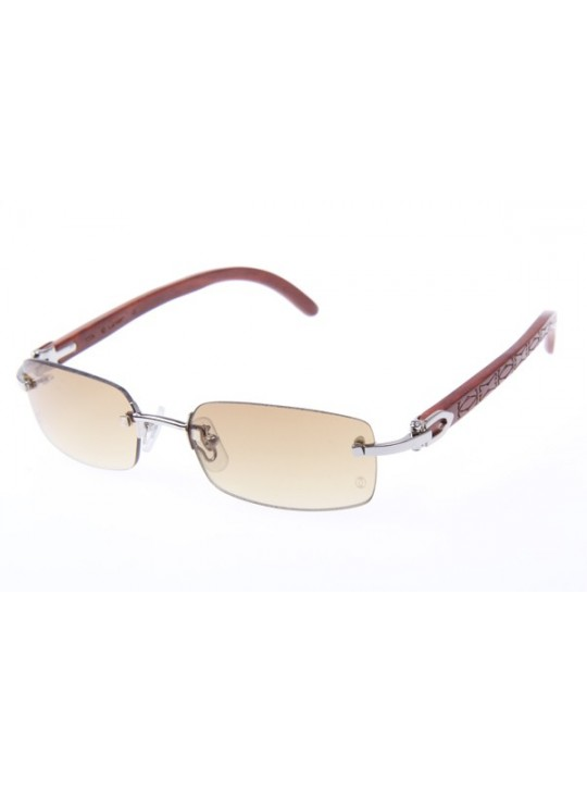 f655b8005157 Cartier 3524013 Wood Sunglasses In Silver ...