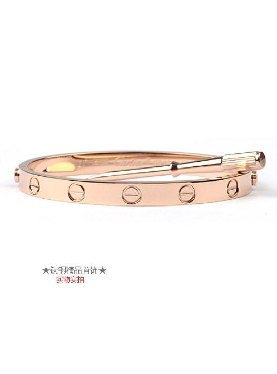 Cartier 18kt Pink Gold Love Bangle For Men (Narrow)