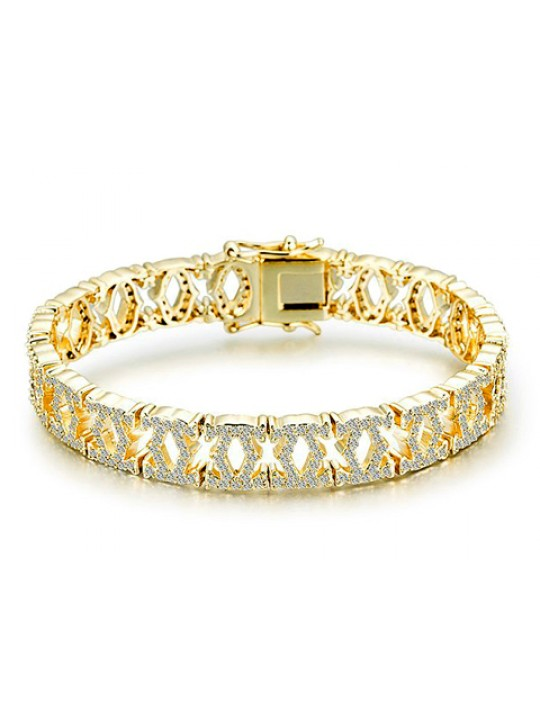 C De Cartier Bracelet in 18kt Yellow Gold with Full Paved Diamonds