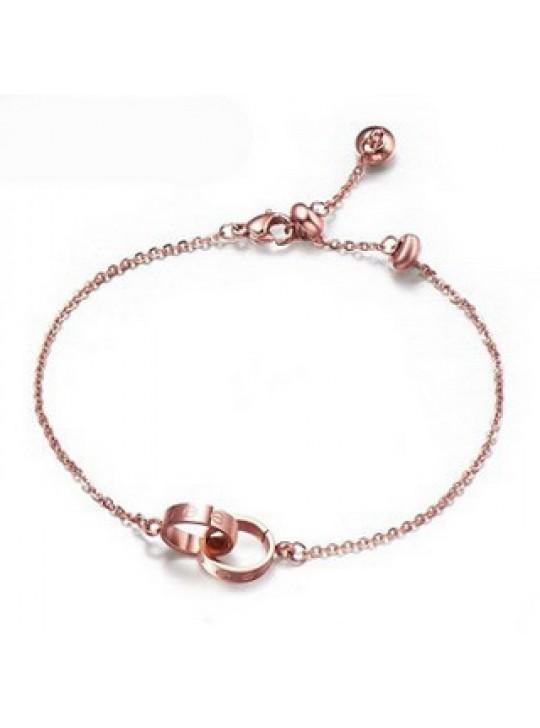 Cartier Double Ring Love Bracelet in 18kt Pink Gold