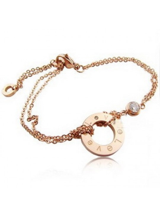 Cartier LOVE Bracelet in 18kt Pink Gold With A Diamond