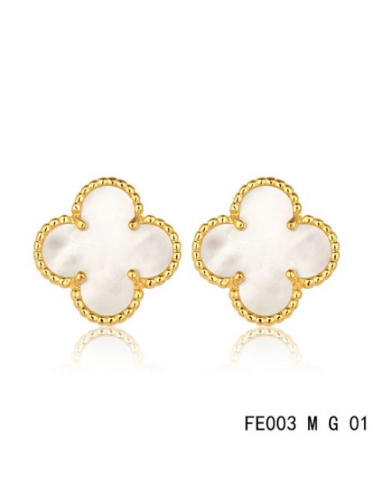 Van cleef clover earrings