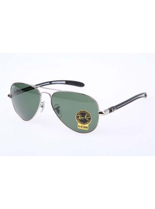 3b0a5fd1406 Ray Ban RB8307 Aviator Tech Sunglasses in Silver Green Lens 003