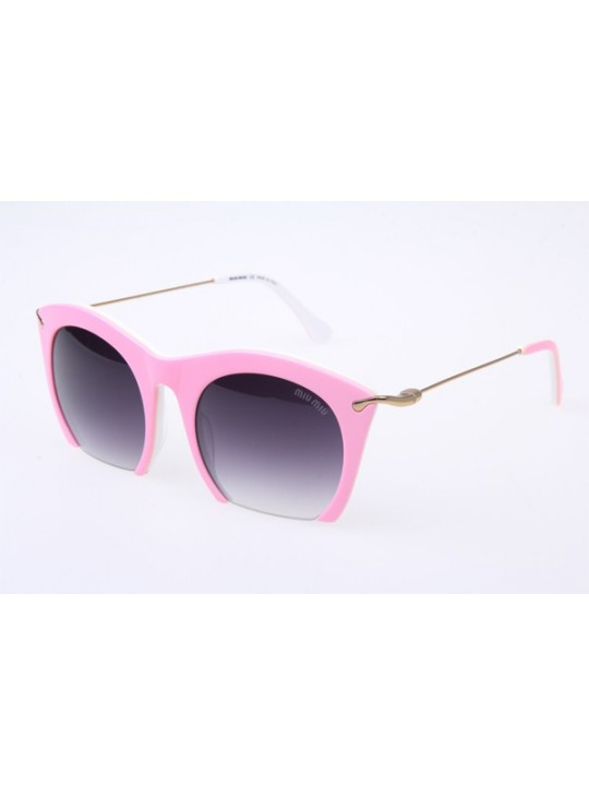 3a88ea468584 Miu Miu MU14NS Sunglasses in Pink Gold
