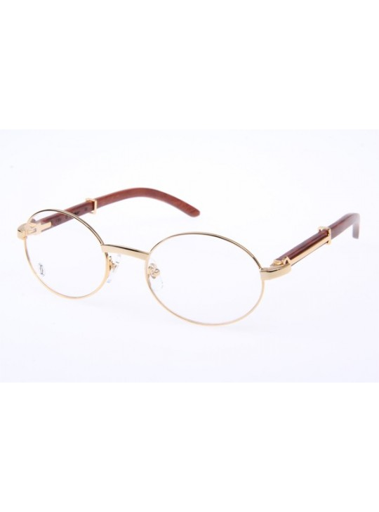 45490d10ae45 Cartier 51551348 Wood Eyeglasses in Gold ...