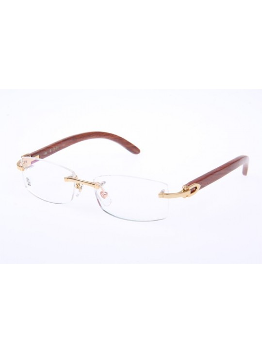 de3cf21abf9 Cartier 3524012 Wood Eyeglasses In Gold