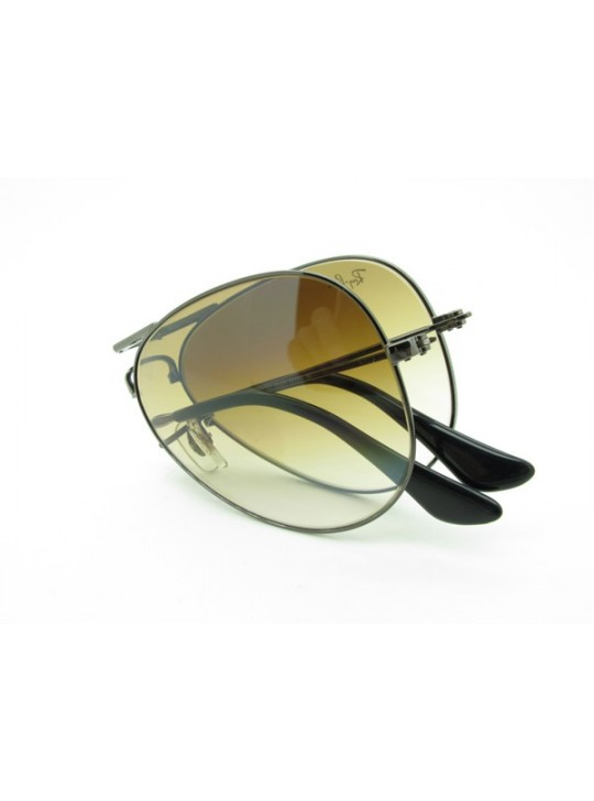 5d67c168232 Ray Ban Aviator Floding RB3479 Sunglasses in Gunmetal Brown Gradient 004 51  ...
