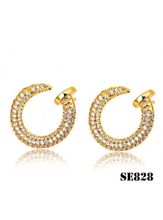 Cartier Juste un Clou Earrings in Yellow Gold with Diamonds