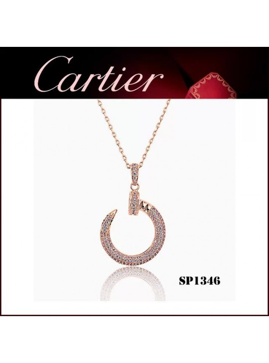 Cartier Juste un Clou Pendant in Pink Gold with Diamonds