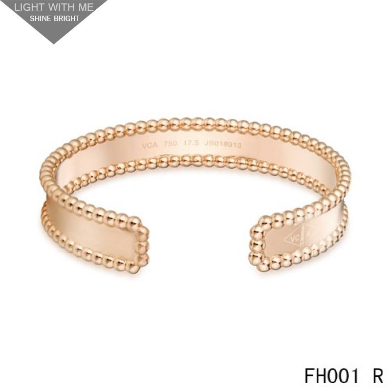 Van Cleef Arpels Open Cuff Bracelet Pink Gold
