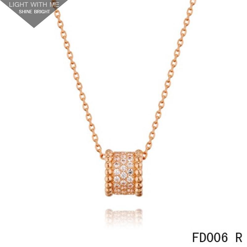 Van cleef arpels pink gold perlee pendant with diamonds 5 rows van cleef arpels pink gold perlee pendant with diamonds 5 rows aloadofball Image collections