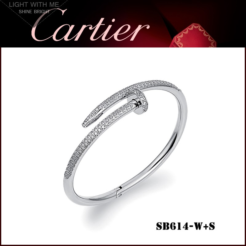 in clou un juste bracelet diamond cartier metallic lyst jewelry white