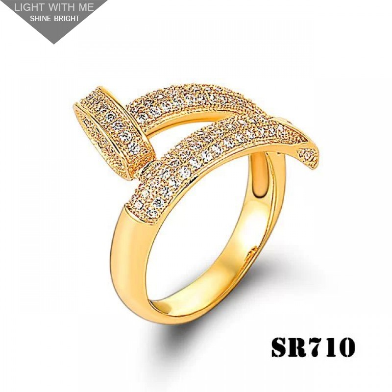 7f37bae977be6 Cartier Juste Un Clou Ring in Yellow Gold Set with Brilliant-cut ...