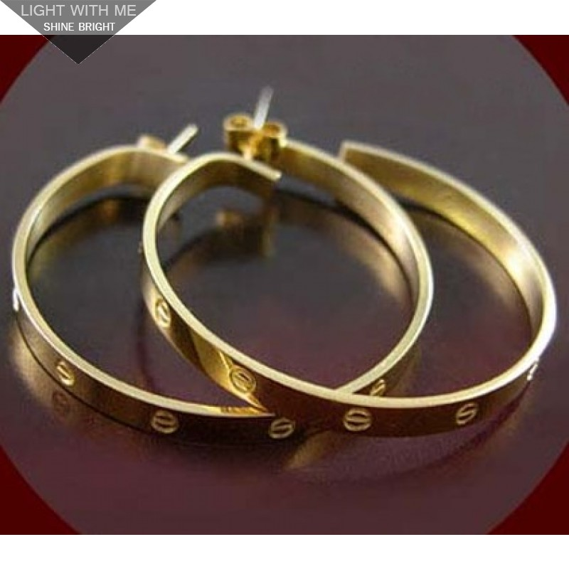 Cartier love earrings