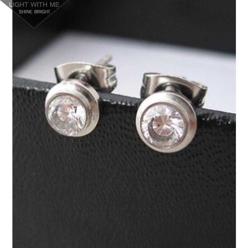 Cartier Diamond Earrings In White Gold