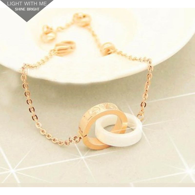 5c0790b9ae115 Cartier LOVE 2 Rings Charm Necklace in 18K Yellow Gold With White ...