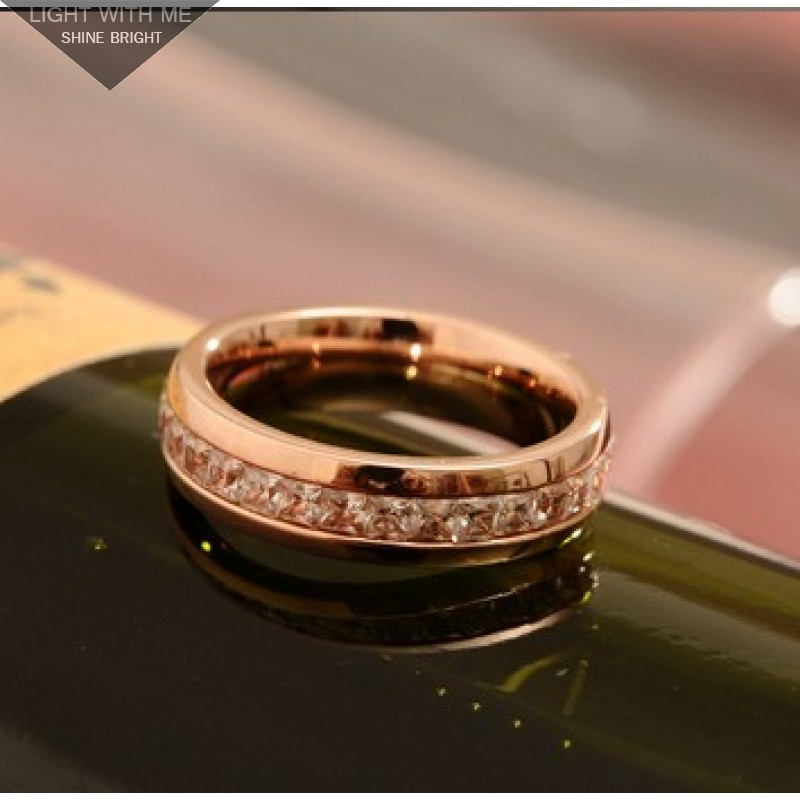 Cartier D Amour Wedding Band Ring Pink Gold With Diamonds Paved