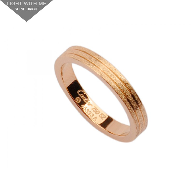 Cartier wedding band ring in 18kt pink gold with pave corundum junglespirit Choice Image