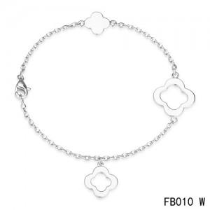Van Cleef & Arpels Byzantine Alhambra Bracelet 3 Motifs White Gold