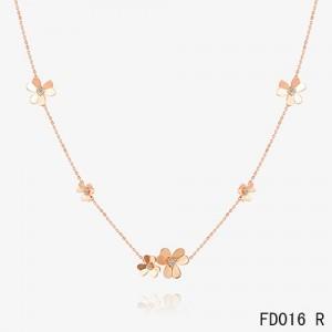 Van cleef arpels alhambra necklace van cleef arpels clover van cleef arpels pink gold frivole necklace 9 flowers aloadofball Image collections