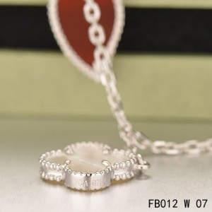 Lucky Alhambra White Gold Bracelet with 4 Stone Combination Motifs CMT0509