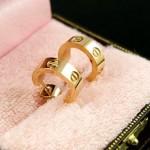 Cartier LOVE Stud Earrings in 18K Yellow Gold