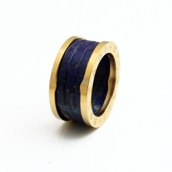 Bvlgari B.ZERO1 4-Band Ring in 18kt Yellow Gold and Blue Marble