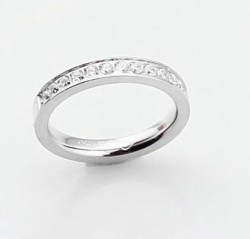 Cartier Wedding Band Ring in Platinum Set With Diamonds,REF:B4071400