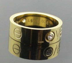 Cartier Love Ring in 18k Yellow Gold with Diamonds