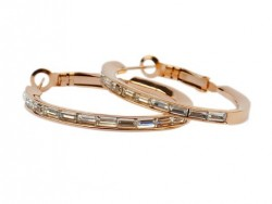 Cartier Earrings in 18kt Pink Gold with Pave Diamonds
