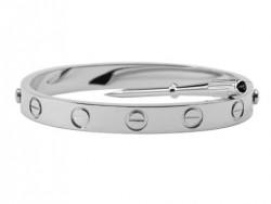 Cartier White Gold LOVE Bracelet for Men+Free Screwdriver (REF: B6035416)