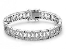 C De Cartier Bracelet in 18kt White Gold with Full Paved Diamonds