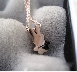 Cartier Rabbit in 18K Pink Gold Necklace