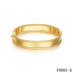 Van Cleef & Arpels Perlee Signature Bracelet,Yellow Gold,Medium Model