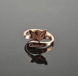 Catier Fox Ring in 18k Pink Gold
